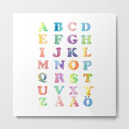 ABC watercolor for me! Metal Print