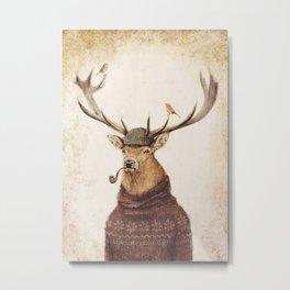 Thinking Wild Metal Print