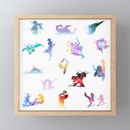 final fantasy logo pattern Framed Mini Art Print