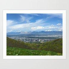 Salt Lake City Art Print
