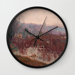 Tom Thomson - Cat-Tails, Canoe Lake - Canada, Canadian Oil Painting - Group of Seven Wall Clock