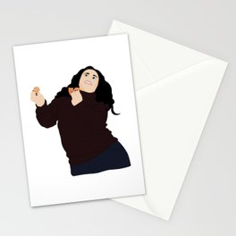 Monica Geller eating and dancing Stationery Cards