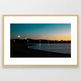 Morning Walk in the Park Framed Art Print