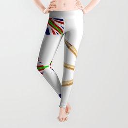 Darts With Union Jack Flag Leggings