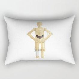 Fictional Robot/Droid Character Minimal Sticker Rectangular Pillow