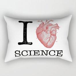 I Love Heart Science T Shirt - Biology Tee Tshirt Teacher Rectangular Pillow