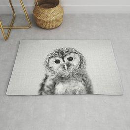 Baby Owl - Black & White Rug