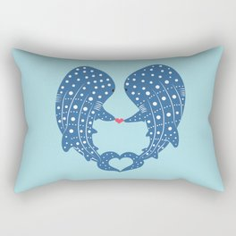 Valentine Sharks Rectangular Pillow