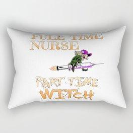 Halloween Costume Full Time Nurse Part-Time Witch Rectangular Pillow