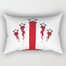 Blood stripes and stars Rectangular Pillow
