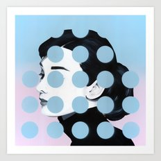 Audrey (Dots) by Famous When Dead Art Print