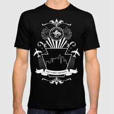 Don't Forget Your Roots Mens Fitted Tee Black MEDIUM