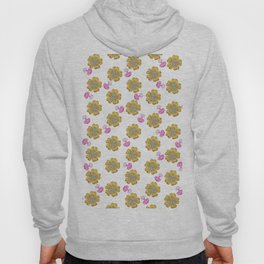 Girly pink perfume bottle faux gold glitter floral Hoody