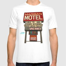Classy motel sign MEDIUM Mens Fitted Tee White