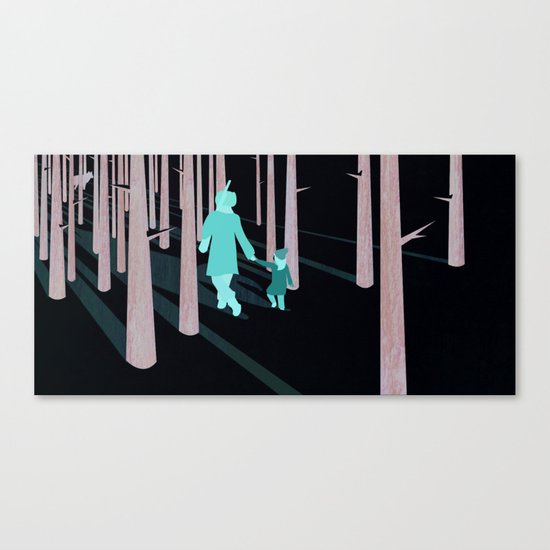 we're not out of the woods yet... Canvas Print