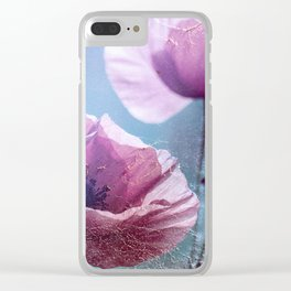 Poppy Spinning Clear iPhone Case