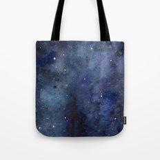 Night Sky Stars Galaxy | Watercolor Nebula Tote Bag