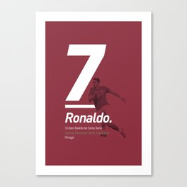 Ronaldo Portugal 7 Canvas Print