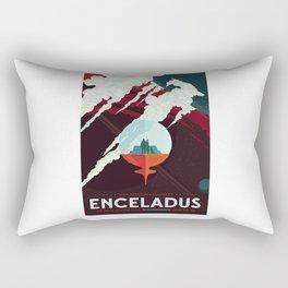 Enceladus - NASA Space Travel Poster Rectangular Pillow