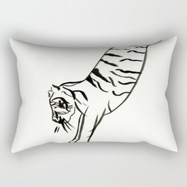 Jumping Tiger Rectangular Pillow