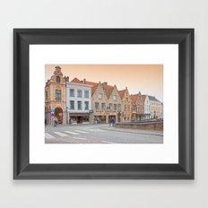 Brugge Architecture Framed Art Print