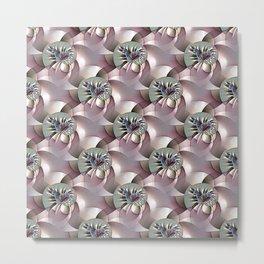 Blooming abstract flowerbed Metal Print