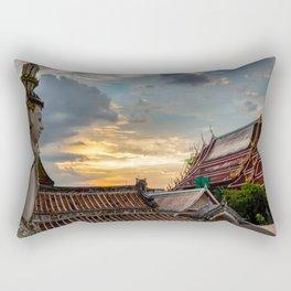 Wat Arun Sunset Rectangular Pillow