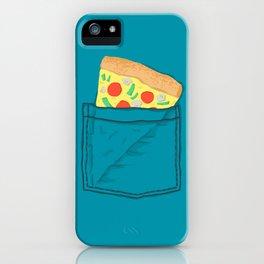 Emergency supply - pocket pizza iPhone Case