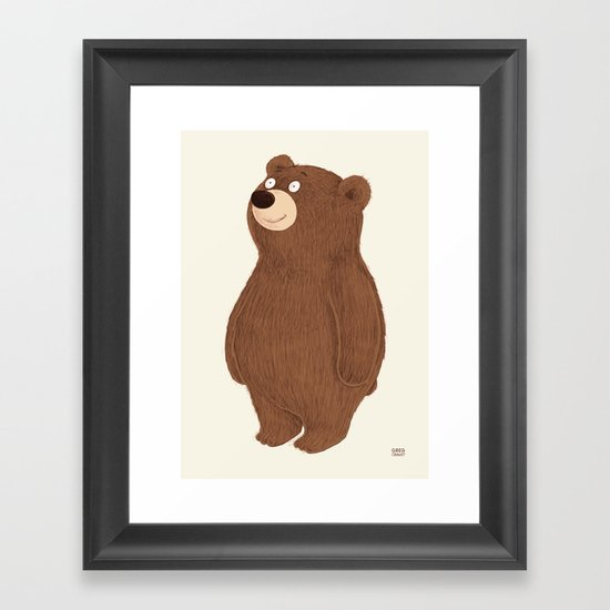 Simple Bear Framed Art Print