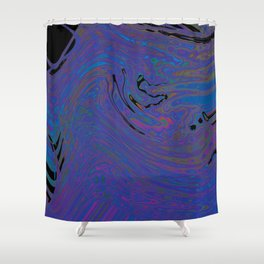 Violet Magma Shower Curtain