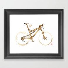 Coffee Wheels #00 Framed Art Print