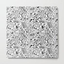 art supply explosion Metal Print