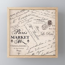 Paris Market 2 Framed Mini Art Print