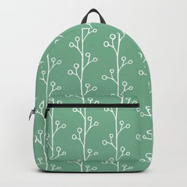 Green and White Vines Backpack