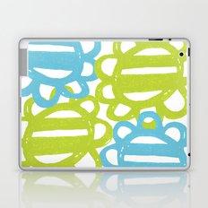 Fun Flowers Large blue green Laptop & iPad Skin