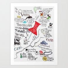 Paper towns, John Green Art Print