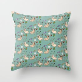 STEM pugs Throw Pillow