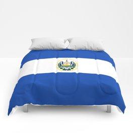 Flag of salvador - salvador,Salvadoran,San Salvador,salvadoreño,Guanaco. Comforters