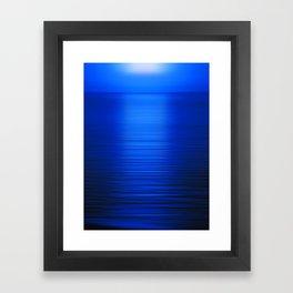 Sunset on the Water-Deep Blue Framed Art Print