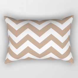 Pale taupe - grey color - Zigzag Chevron Pattern Rectangular Pillow
