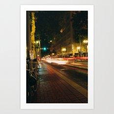 Portland Lights at Night Art Print