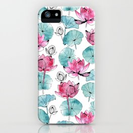 Waterlily buds iPhone Case