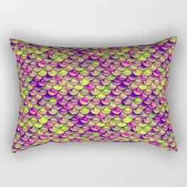 Purple Green Scales Rectangular Pillow