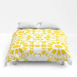 Golden Arabesque Comforters