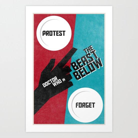 The Beast Below (2 in a series of 13) Art Print