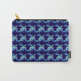 Sea Turtle Pattern Blue Carry-All Pouch