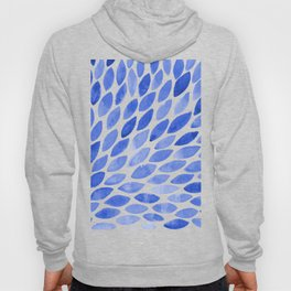 Watercolor brush strokes burst - electric blue Hoody