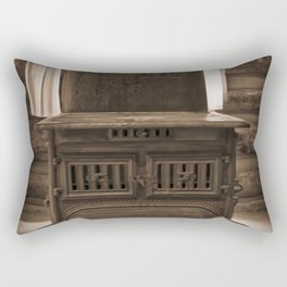 The Stove In The Cabin Rectangular Pillow