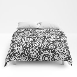 of flowers and planets Comforters