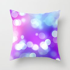 Bright Dots Throw Pillow